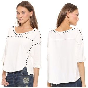 Free People Dillon Studded Tee Small